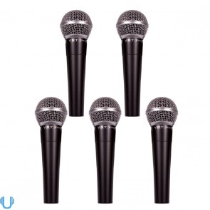 VRT Pro Audio Dynamic Vocal Microphone (5 Pack)