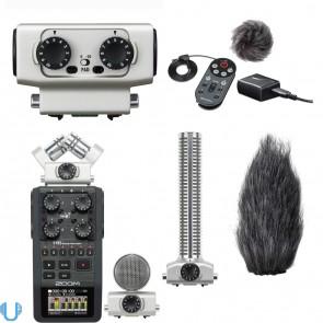 Zoom H6 Handy Recorder, APH-6 Accessory Pack, EXH-6 Dual Input Capsule & SGH-6 Shotgun Mic Capsule