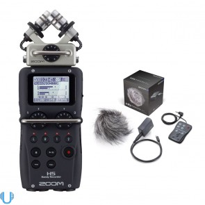 Zoom H5 Handy Recorder with Interchangeable Microphone System W/ H5 Accessory Pack